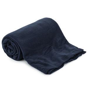 Fleecová deka UNI tmavě modrá, 150 x 200 cm