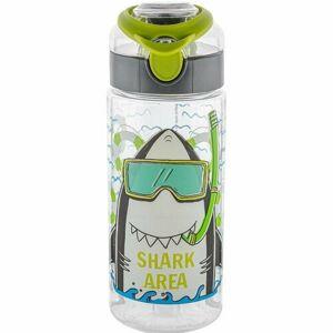 Florina Dětská plastová láhev Žralok, 500 ml