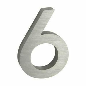 Hliníkové domovní číslo 6, 3D broušený povrch