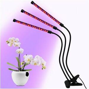 Hydroponie LED světlo pro domácí zahrádku  klipsnou a časovačem, 30 W