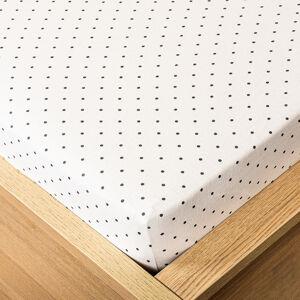 Trade Concept Jersey prostěradlo tečka šedá, 180 x 200 cm