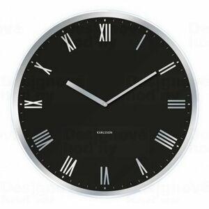 Karlsson 5423BK Designové nástěnné hodiny, pr. 40 cm