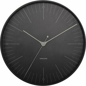 Karlsson 5769BK designové nástěnné hodiny, pr. 40 cm
