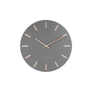 Karlsson KA5716GR Designové nástěnné hodiny, 45 cm