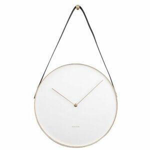 Karlssson 5767WH designové nástěnné hodiny, pr. 34 cm