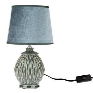 Keramická stolní lampa Star, modrá, 18 x 32 x 18 cm