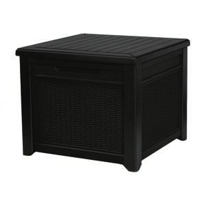 Keter Zahradní úložný box Cube Rattan hnědá, 208 l