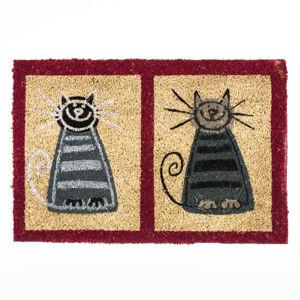 BO-MA Trading Kokosová rohožka dvě kočky, 40 x 60 cm