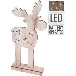 Koopman Vánoční sob Artie 5 LED, 40,5 cm