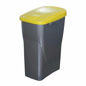 Koš na tříděný odpad 61,5 x 42 x 25 cm, žluté víko, 40 l