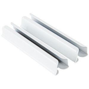 Kovová spojka kolejniček Deluxe bílá, 5 cm, sada 2 ks