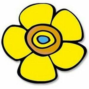 Kuchyňská podložka Květina žlutá, 10 x 10 cm