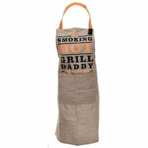 Kuchyňská zástěra Grill Daddy béžová, 60 x 84 cm