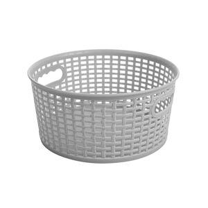 Kulatý košík RATTAN CLASSIC 4,5 l, šedá