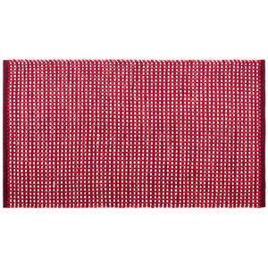 Kusový bavlněný koberec Elsa červená, 70 x 120 cm