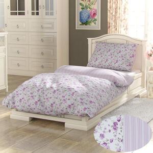 Kvalitex Bavlněné povlečení Provence Viento růžová, 220 x 200 cm, 2 ks 70 x 90 cm