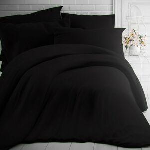 Kvalitex Bavlněné povlečení černá, 140 x 200 cm, 70 x 90 cm