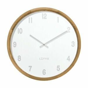 Lavvu LCT4060 dřevěné hodiny Fade, pr. 35 cm