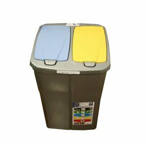 Mazzei Koš na tříděný odpad dvojitý, 45 l, víko modré a žluté