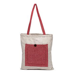 Nákupní taška Heda červená / béžová, 40 x 45 cm