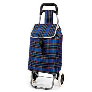 Nákupní taška na kolečkách Kostka, modrá