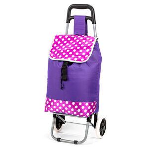 Nákupní taška na kolečkách Puntík, růžová