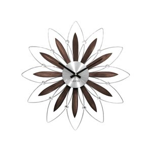 Nástěnné hodiny Lavvu Crystal Flower LCT1110 hnědá, 49 cm