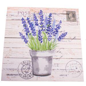 Obraz na plátně s levandulí Post Card, 40 x 40 cm