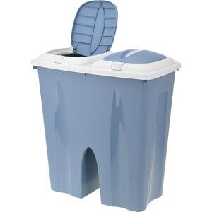 Odpadkový koš Crayon 2 x 25 l, modrá