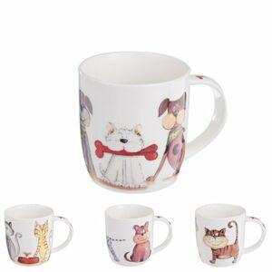 Orion Sada porcelánových hrnků Psi a Kočky 0,4 l, 4 ks
