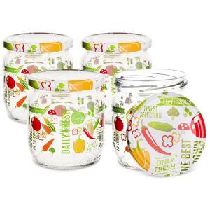 Orion Sada zavařovacích sklenic s víčkem Fruit 0,66 l, 4 ks