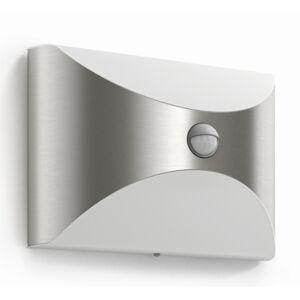 Philips 17299/47/16 Herb Venkovní nástěnné LEDsvítidlo s čidlem 23 cm, stříbrná