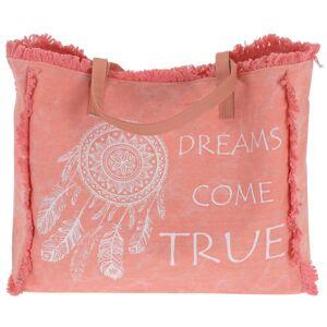 Plážová taška Dreams come true, růžová