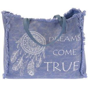 Plážová taška Dreams come true, světle modrá