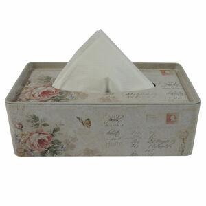 Plechový box na kapesníky Růže, 24 cm