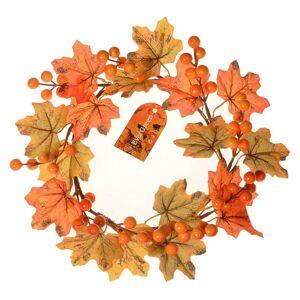 Podzimní věneček s javorovými listy a bobulemi, pr. 22 cm