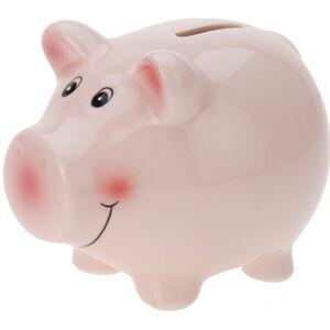 Pokladnička Happy pig růžová, 11,5 x 9,1 x 9,1 cm
