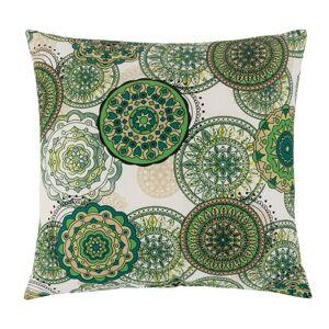 Polštářek Adéla Mandala zelená, 40 x 40 cm