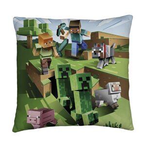 Polštářek Minecraft oboustranný, 40 x 40 cm