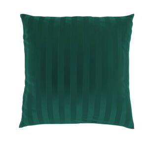 Kvalitex Povlak na polštářek Stripe tmavě zelená, 40 x 40 cm