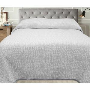 Přehoz na postel Carson šedá, 140 x 220 cm