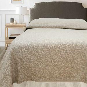 Přehoz na postel Leaf béžová, 240 x 260 cm