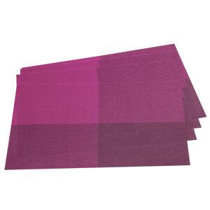 Prostírání DeLuxe fialová, 30 x 45 cm, sada 4 ks