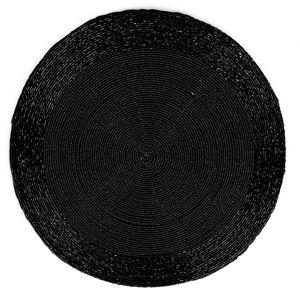 Prostírání z korálků černá, 30 cm