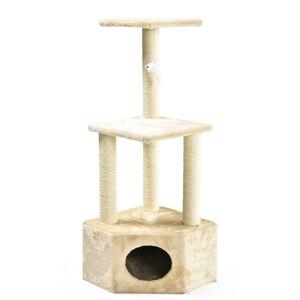 Rohové škrabadlo pro kočky Abel, 40 x 40 x 109 cm