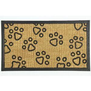 BO-MA Trading Kokosová rohožka Tlapičky, 40 x 70 cm
