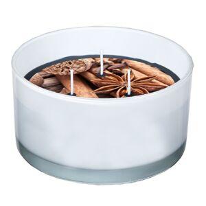 SPAAS Svíčka ve skle 3 knoty Mix koření, 13,8 x 7,3 cm