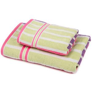 Sada Stripes Fine ručník a osuška, 70 x 140 cm, 50 x 90 cm