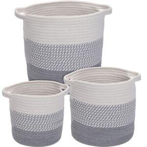 Sada dekoračních košíků Hamois 3 ks, šedá