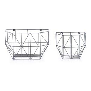 Sada kovových dekoračních košíků Cuna, 2 ks